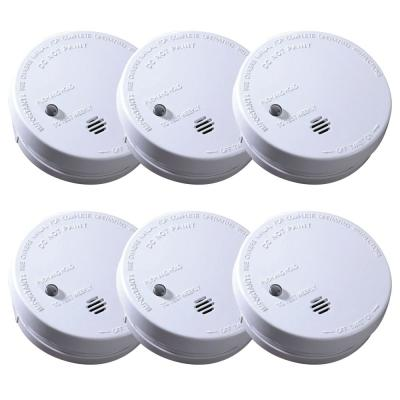 Code One Battery Operated Smoke Detector with Ionization Sensor (6-Pack)