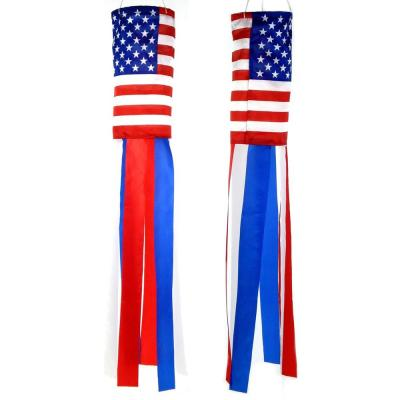 32 in. Patriot USA American Flag Nylon Windsock (Twin-Pack)