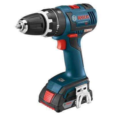18 Volt Lithium-Ion Cordless 1/2 in. Variable Speed EC Brushless Compact Tough Hammer Drill/Driver Kit
