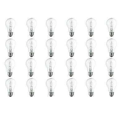 100-Watt Equivalent A19 Dimmable Clear Eco-Incandescent Light Bulb Soft White (24-Pack)