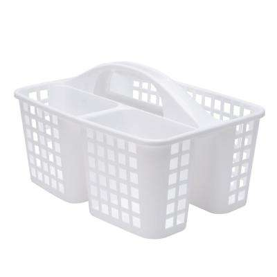 Caddy Basket with Handle in White