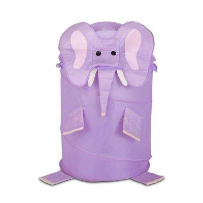 Large Kids Pop-Up Laundry Hamper Elephant