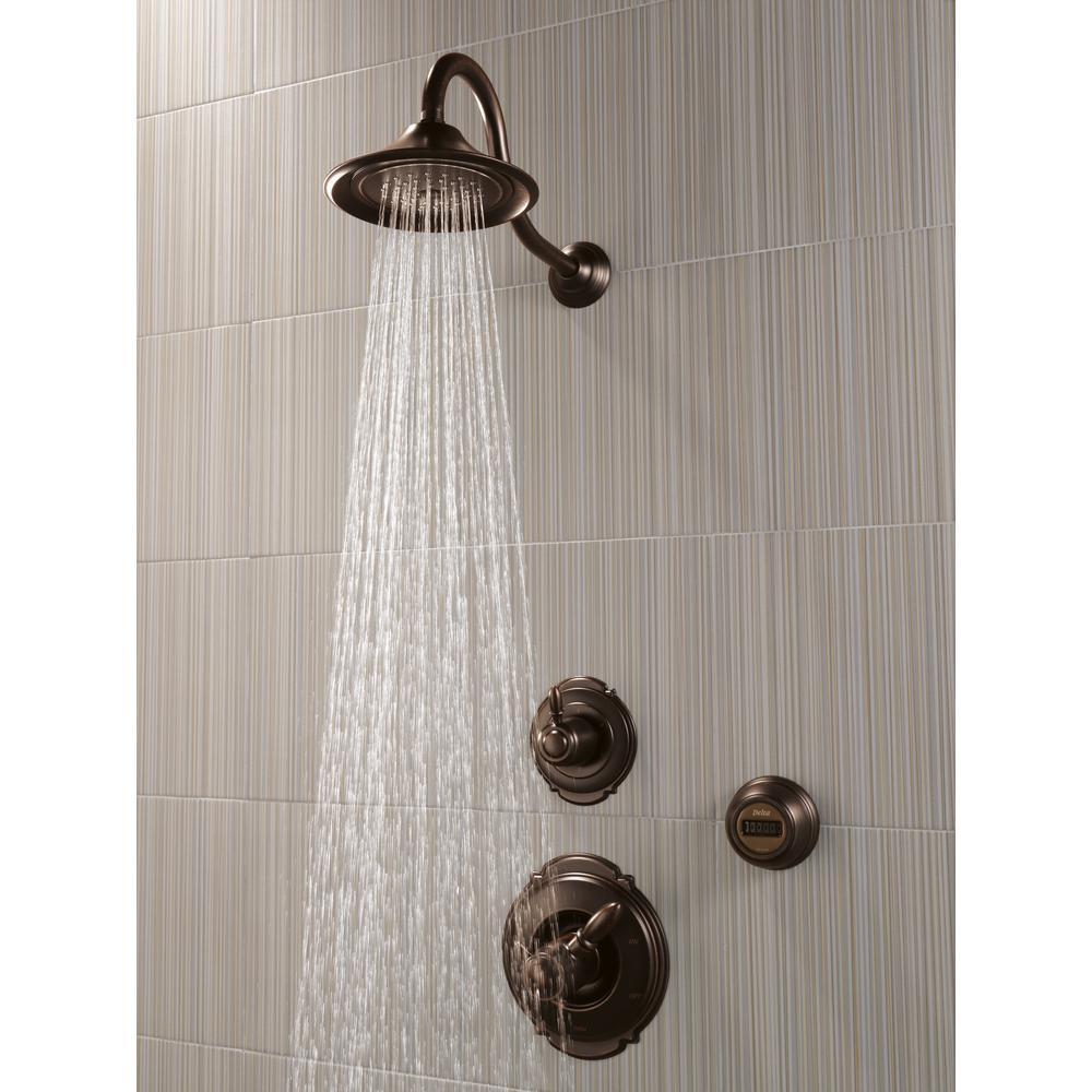 Victorian 3-Spray 5.5 in. Single Wall Mount Fixed Shower Head in Venetian Bronze