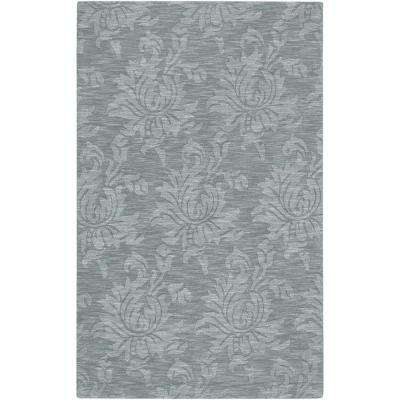 Beth Gray Blue 3 ft. 3 in. x 5 ft. 3 in. Area Rug