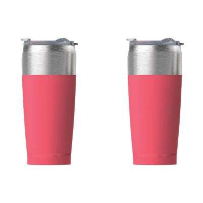 2-Piece Peach 20 oz. Tied Tumbler Set