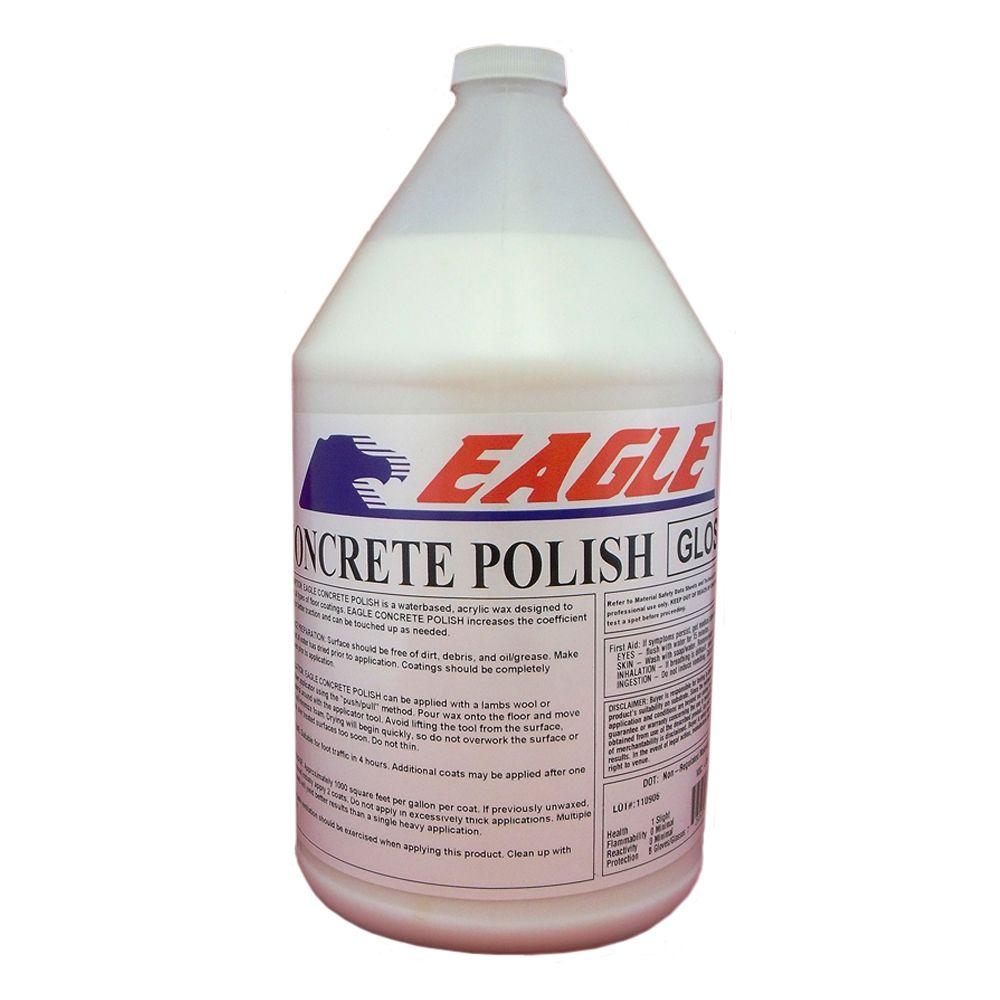 Eagle 1 gal concrete polish gloss floor finish ewg1 the for Concrete floor degreaser