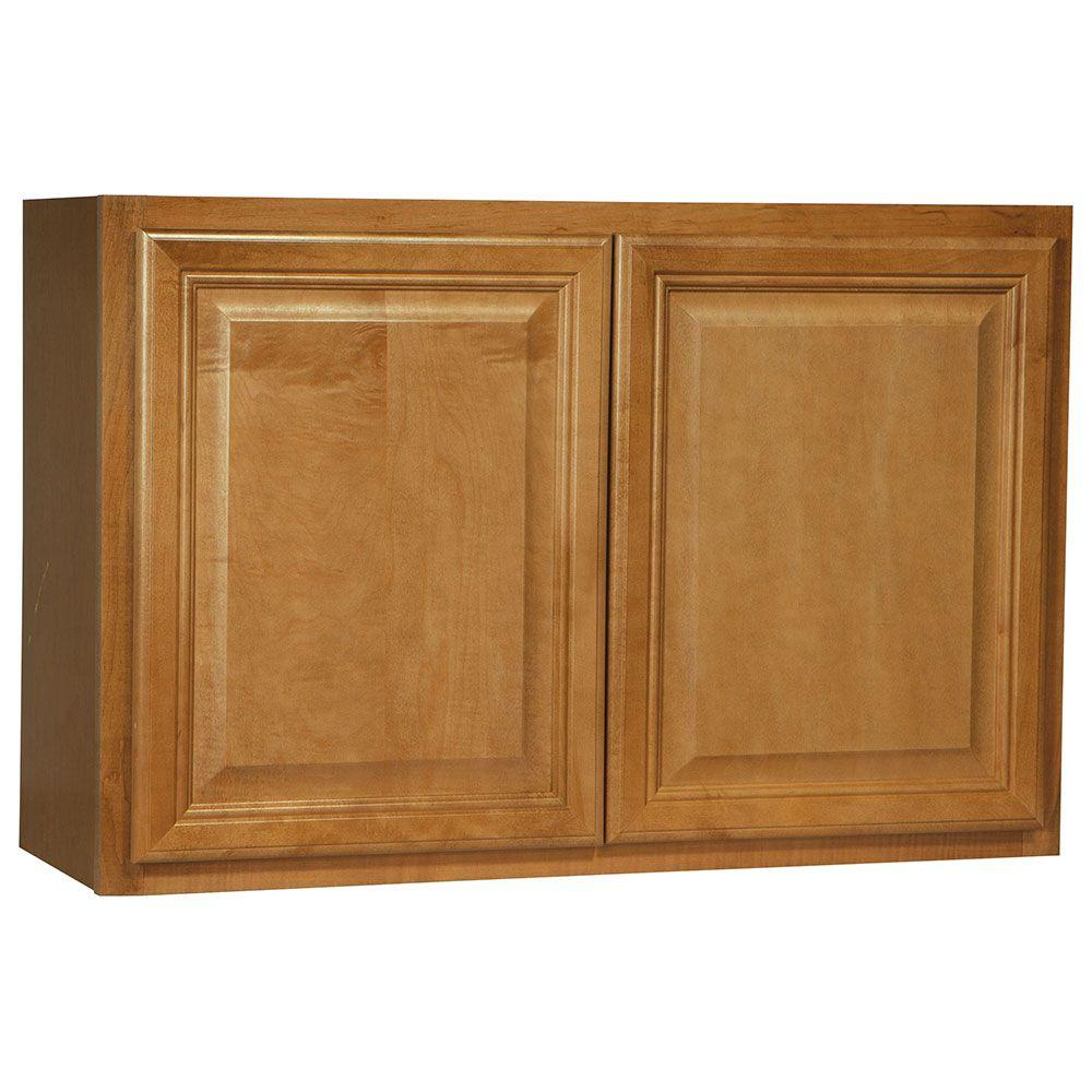 Cambria Assembled 36x23.5x12 in. Wall Bridge Kitchen Cabinet in Harvest