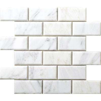 Marble Winter Frost Honed 12.01 in. x 12.01 in. x 10 mm Marble Mesh-Mounted Mosaic Tile