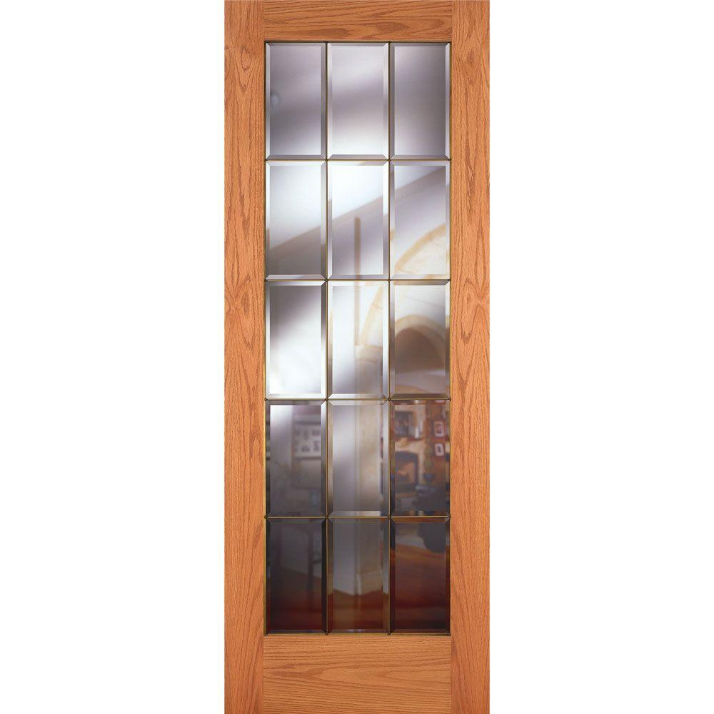 Feather River Doors 36 In X 80 In 15 Lite Unfinished Oak