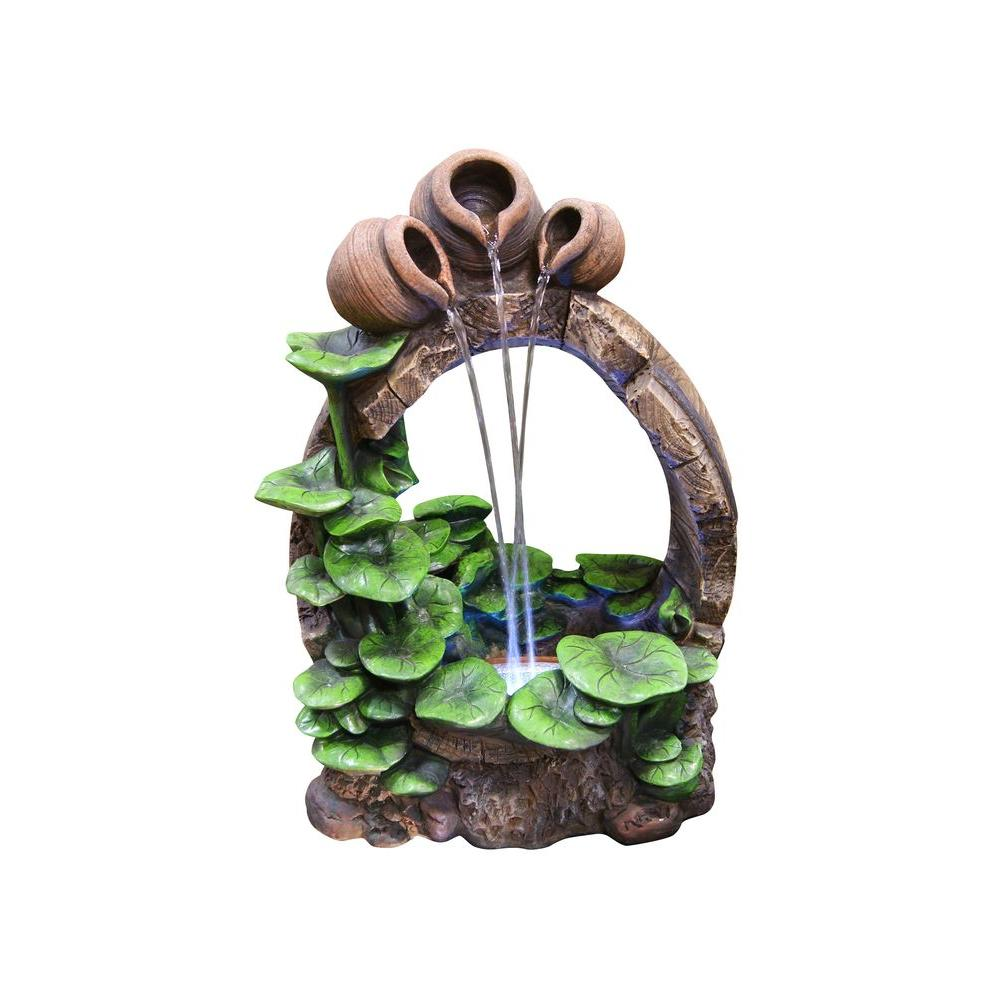 Pure Garden 32 in. Lion Head Fountain-50-0005 - The Home Depot