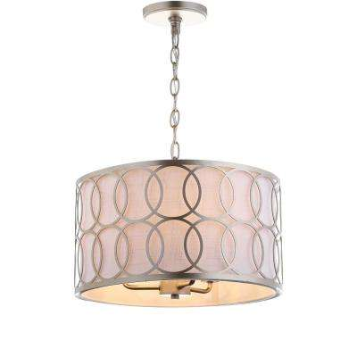 Loop 3-Light Soft Gold 16 in. Metal Pendant