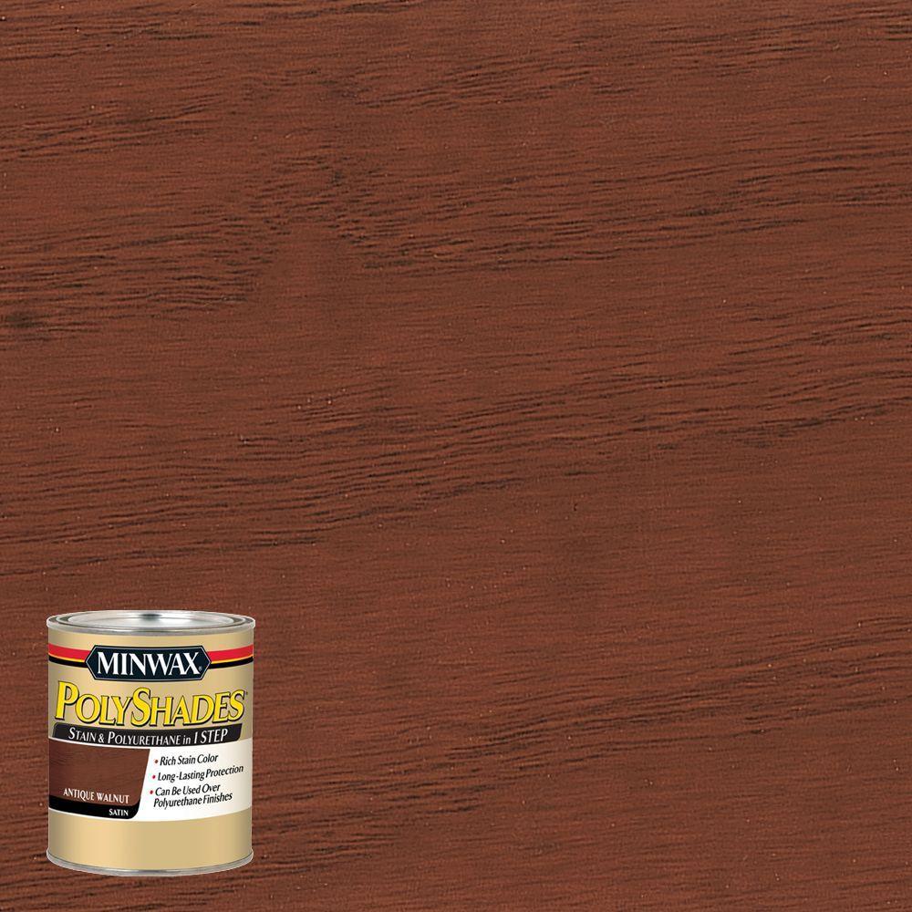 8 oz. PolyShades Antique Walnut Satin Stain and Polyurethane in 1-Step (4-Pack)
