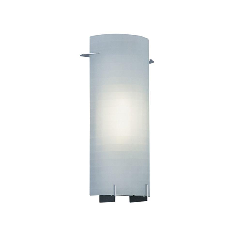 Captivating Designers Fountain Lane Collection 1 Light Chrome Wall Mount Sconce With  Frosted Glass Awesome Design