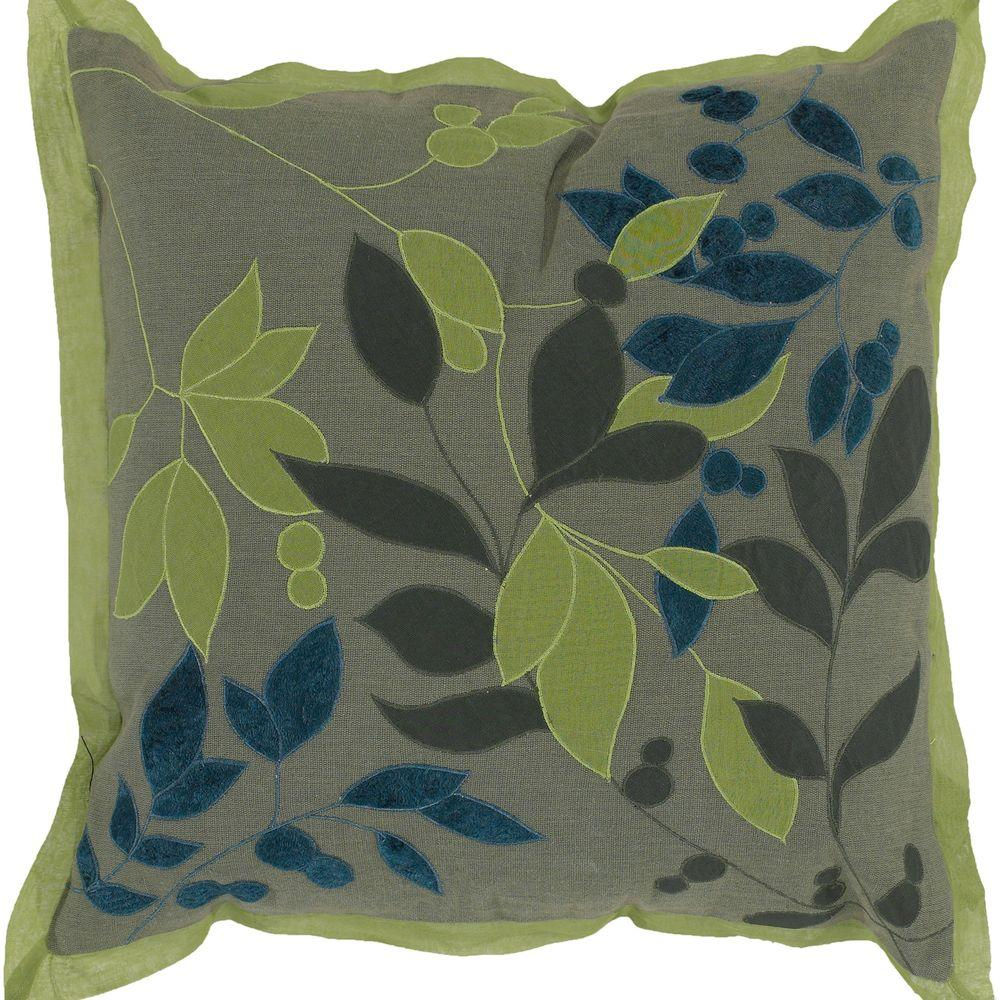 Artistic Weavers LeavesB2 18 in. x 18 in. Decorative Down Pillow-DISCONTINUED