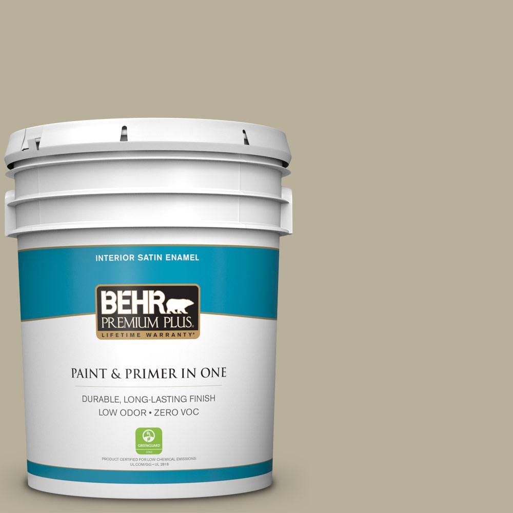 BEHR Premium Plus 5-gal. #N340-3 Bonsai Pot Satin Enamel Interior Paint