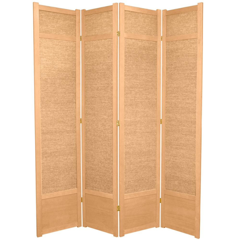 Natural 4 Panel Room Divider