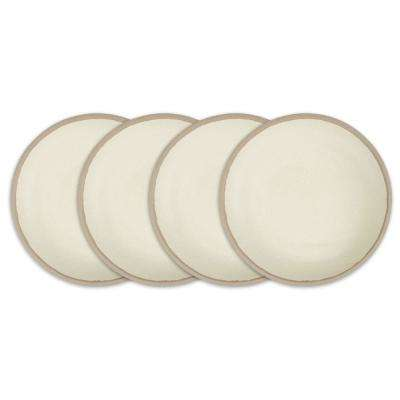 Potter 4-Piece 8 in. Stone Gray Melamine Bamboo Salad Plate Set