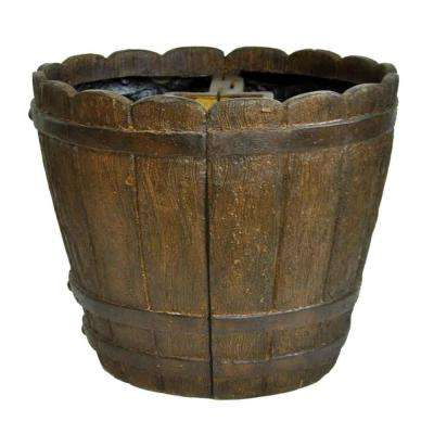 18 in. Dia. Cast Stone Mailbox Planter in Barrel