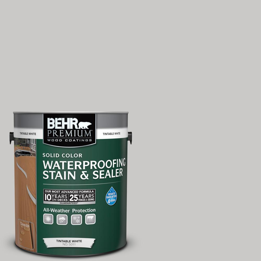 1 gal. #790E-2 Gentle Rain Solid Color Waterproofing Exterior Wood Stain