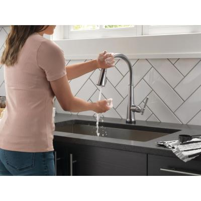 Emmeline Single-Handle Pull-Down Sprayer Kitchen Faucet with Touch2O and ShieldSpray in Lumicoat Arctic Stainless