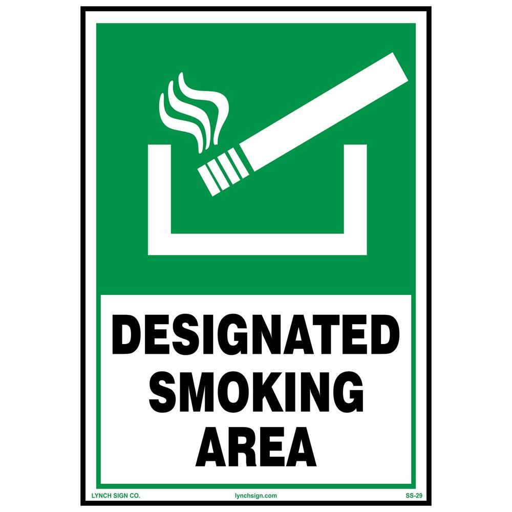 Lynch Sign 7 In X 10 In Designated Smoke Area Sign