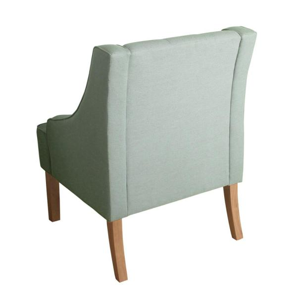 Homepop Light Green Kate Tufted Swoop Arm Accent Chair