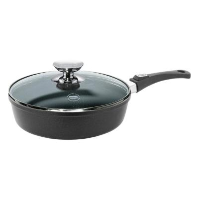 Vario Click 11.5 in./4 Qt. Induction Round Saute Pan with Lid Black
