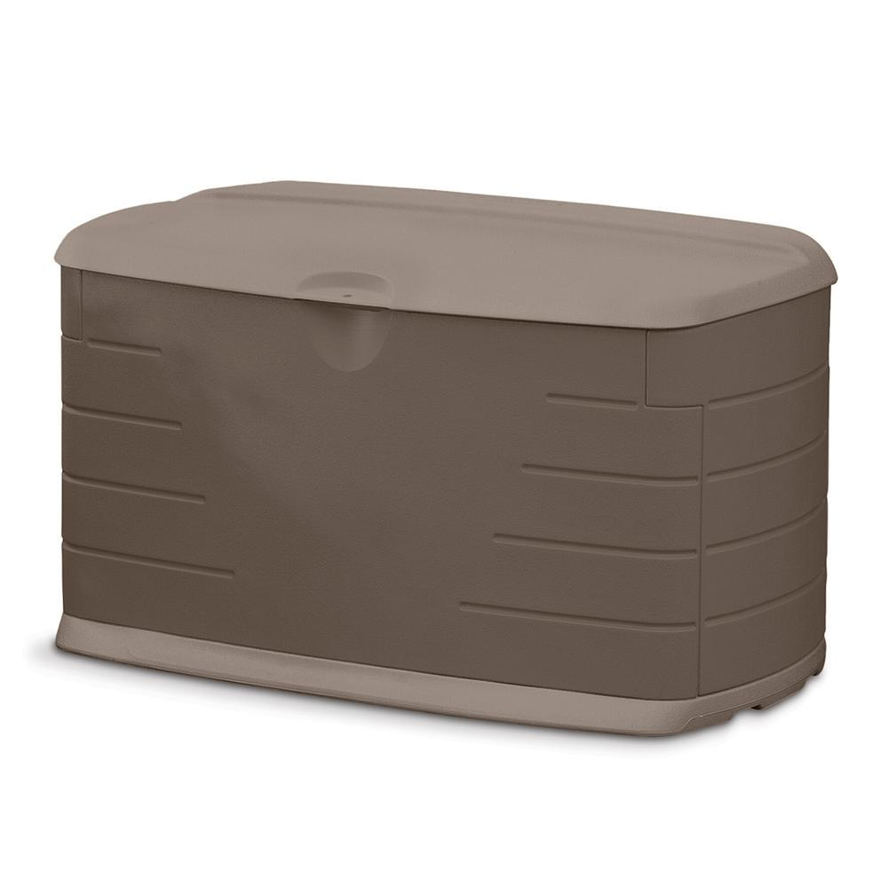 Rubbermaid 73 gal  Medium Resin Deck Box with Seat