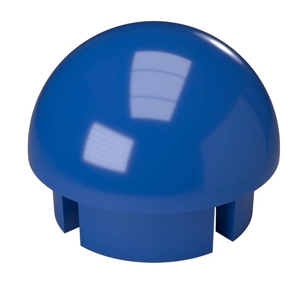 1-1/4 in. Furniture Grade PVC Internal Ball Cap in Blue (10-Pack)