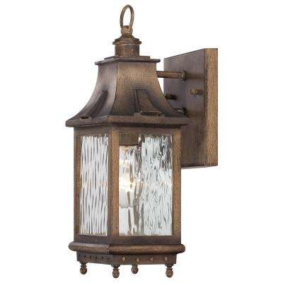 Wilshire Park 1-Light Portsmouth Bronze Outdoor Wall Mount Lantern