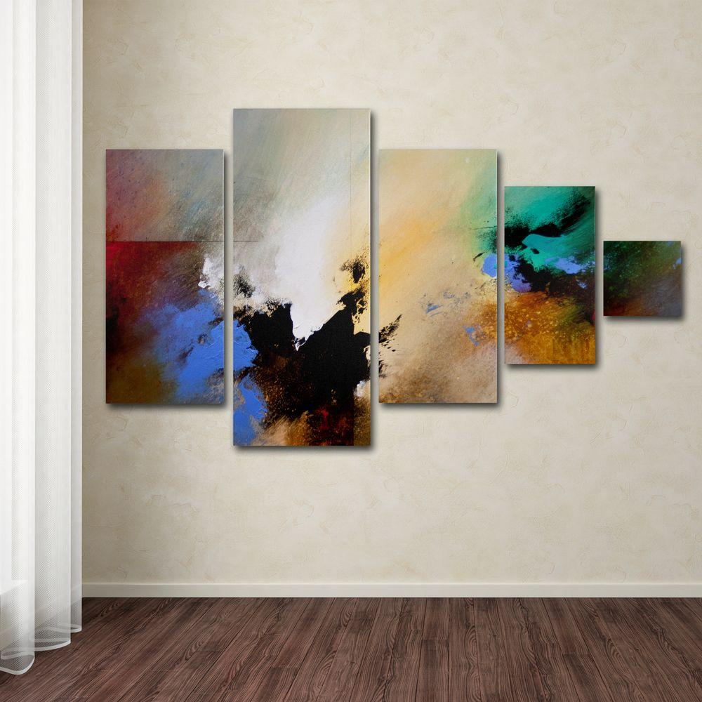 Wall Decor Set Of 5 : Trademark fine art clouds connected ii by ch studios