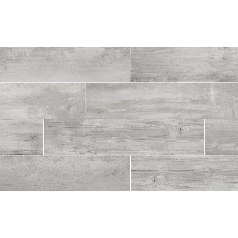 Florida Tile Home Collection Alaskan Powder 8 in.x 36 in. Porcelain ...