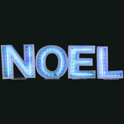 Lights Shadow Box NOEL Letters