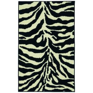 Garland Rug Safari Black/Ivory 2 ft. 6 inch x 3ft. 10 inch Accent Rug by Garland Rug