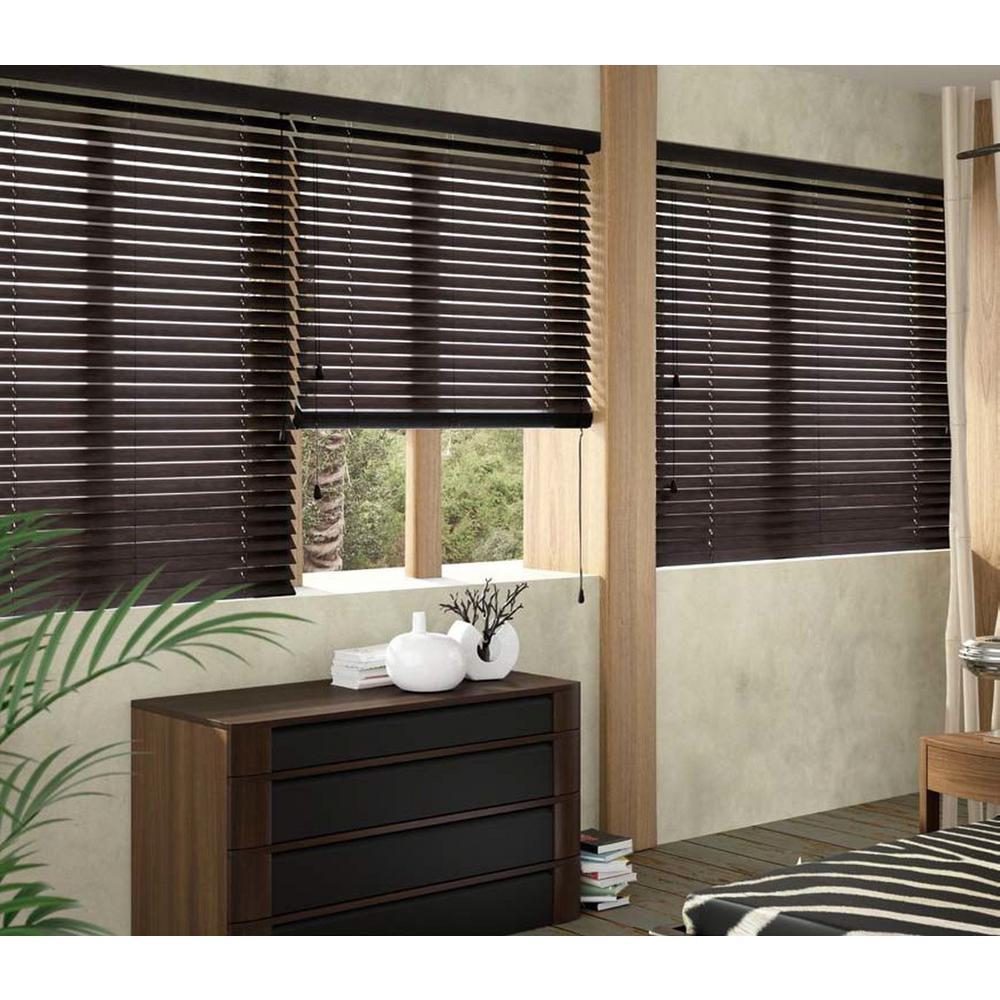 wood blinds blinds the home depot. Black Bedroom Furniture Sets. Home Design Ideas