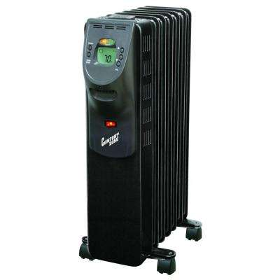 900/1500-Watt Digital Oil-Filled Radiator Portable Heater Electric - Black