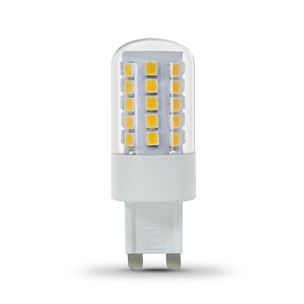 Feit Electric 40-Watt Equivalent Bright White (3000K) T4 G9 Bi-Pin Base Decorative LED Light Bulb