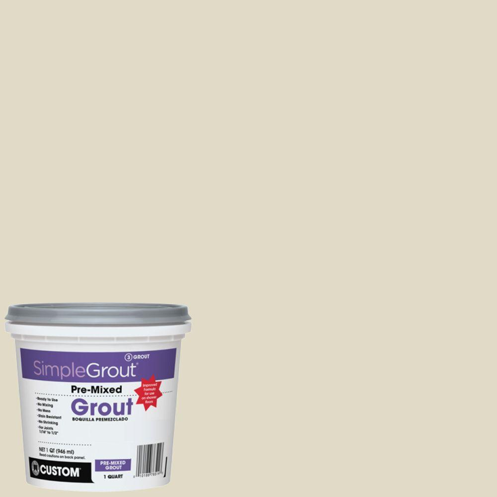 Custom Building Products Simplegrout 333 Alabaster 1 Qt Pre Mixed Grout