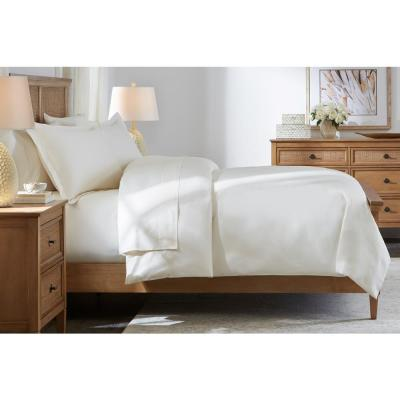500 Thread Count Egyptian Cotton Sateen 3-Piece Full/Queen Duvet Cover Set in Ivory
