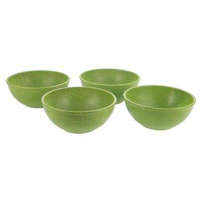 EVO Sustainable 16 oz. Goods Green Eco-Friendly Wood-Plastic Composite Bowl (Set of 4)