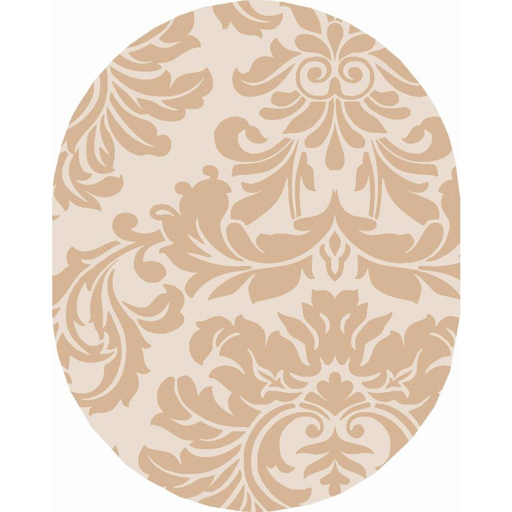 Artistic Weavers Bellaire Taupe 6 ft. x 9 ft. Oval Indoor Area Rug