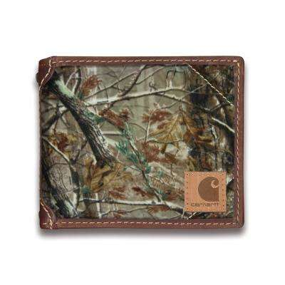 Mens Canvas Mossy Oak Passcase Wallet