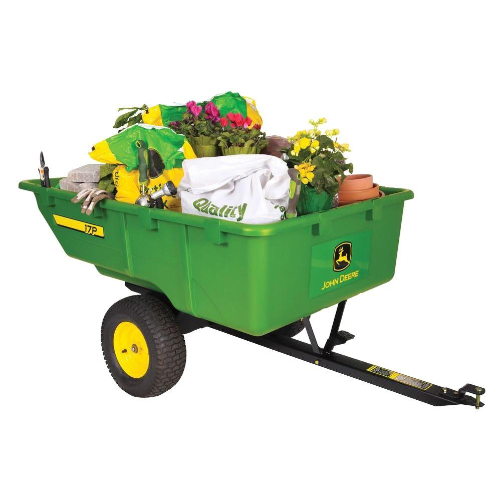 1,000 lb  17 cu  ft  Tow-Behind Poly Utility Cart
