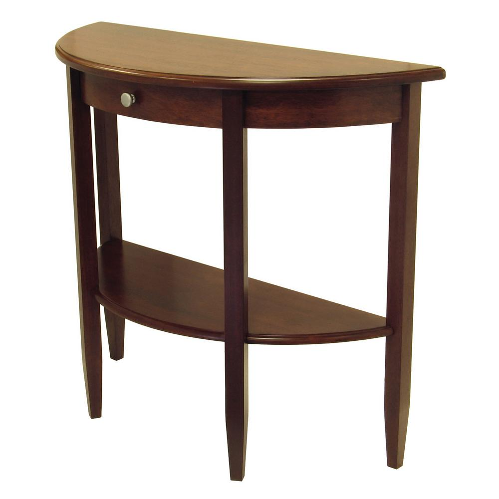 Elegant Winsome Wood Concord Walnut Console Table