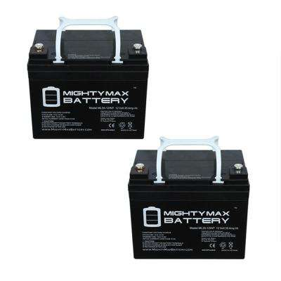 12-Volt 35 Ah SLA (Sealed Lead Acid) AGM Internal Medical Mobility Replacement Battery (2-Pack)