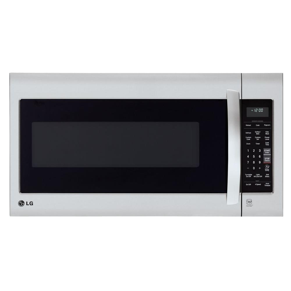Lg Electronics 2 0 Cu Ft Over The Range Microwave In Stainless Steel With Sensor