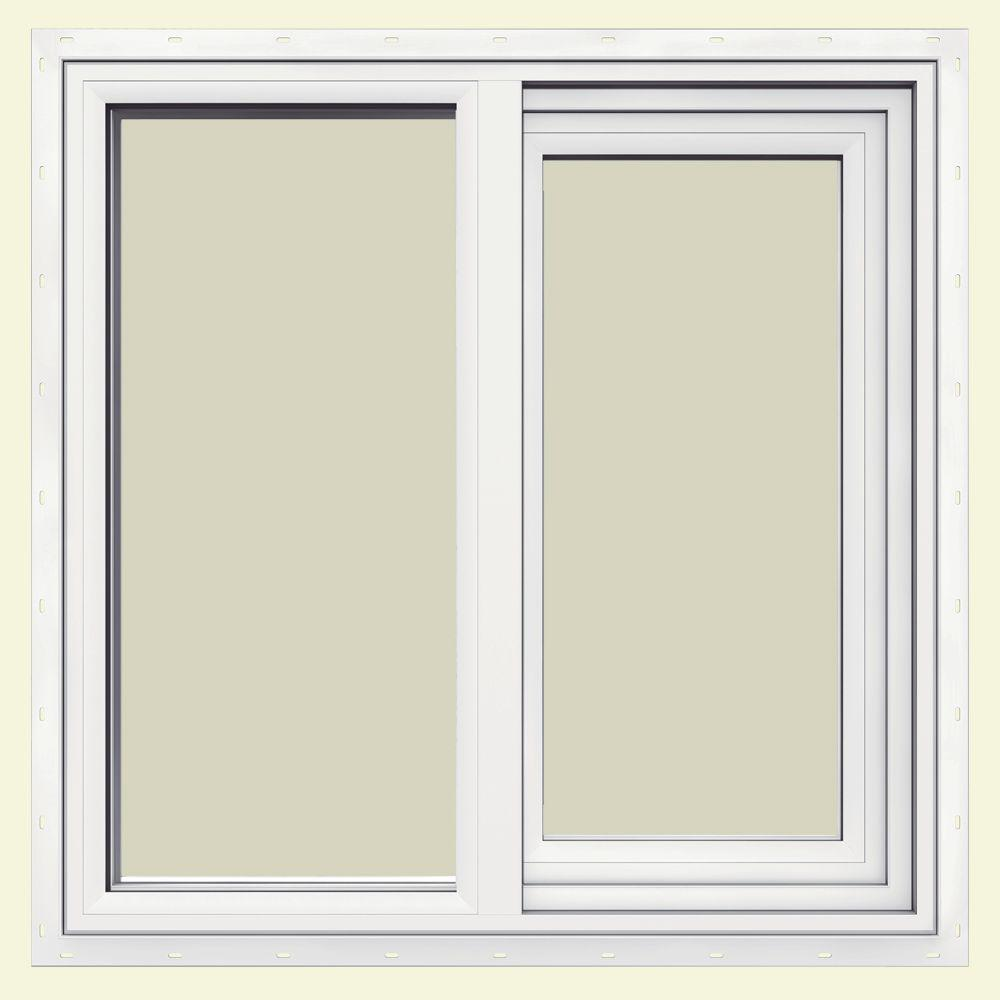 JELD-WEN 23.5 in. x 23.5 in. V-1500 Series Left-Hand Sliding Vinyl Window - White