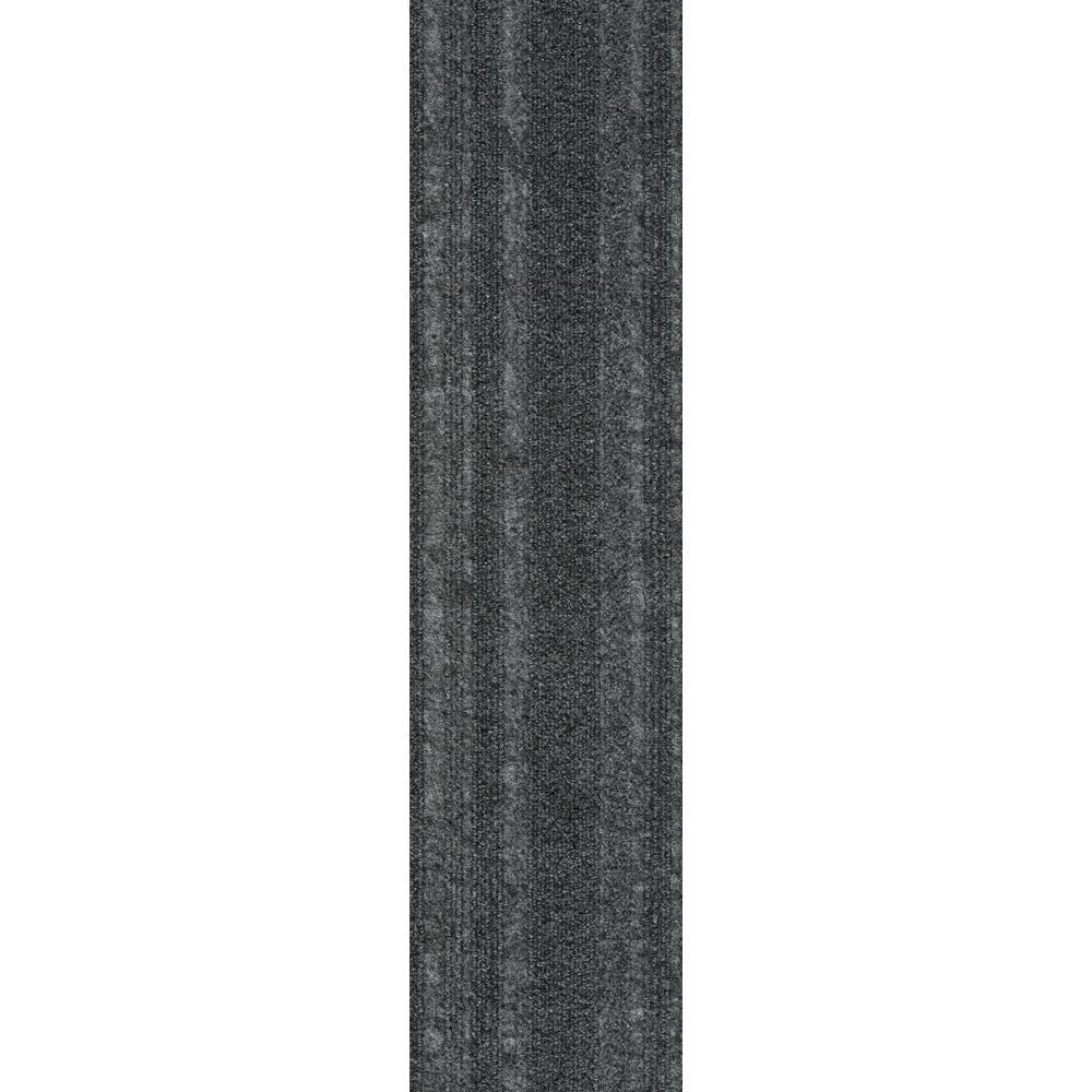 Premium Self-Stick Ocean Blue Barcode Planks 9 in. x 36 in. In/Outdoor Carpet (16 Tiles/36 sq. ft./case)