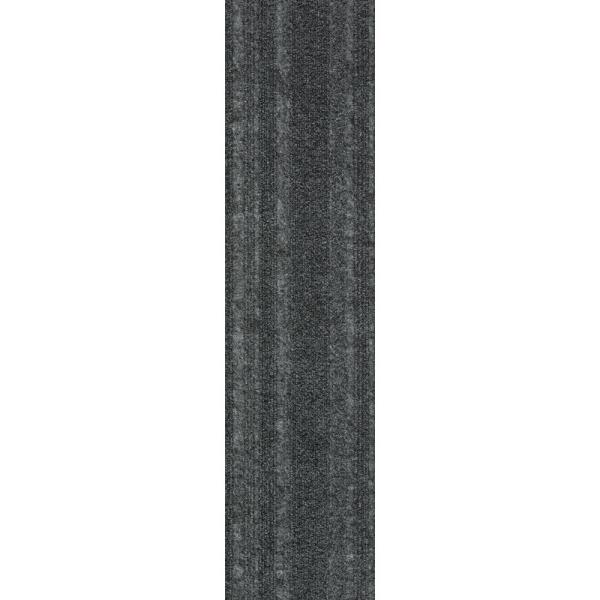Peel and Stick Ocean Blue Barcode Planks 9 in. x 36 in. Commercial/Residential Carpet (16-tile / case)