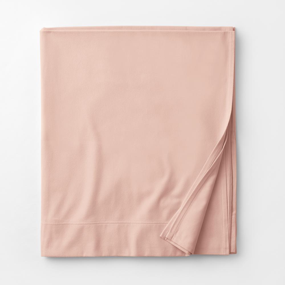 Legacy Velvet Flannel Dusty Rose Solid Full Flat Sheet